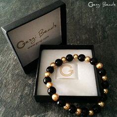 Gesgi Beads Bracelet Black Gold GBBG2 « Gesgi Beads
