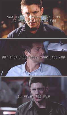 Sometimes I wonder if love is worth fighting for, but then I remember your face and I'm ready for war Dean And Castiel, Winchester Supernatural, Supernatural Destiel, Destiel Twist And Shout, Fandoms Tumblr, Gardian Angel, Supernatural Wallpaper, Super Natural, Superwholock