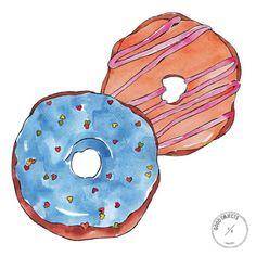 Good objects - Donuts, donuts…  #donuts #goodobjects #illustration #watercolor