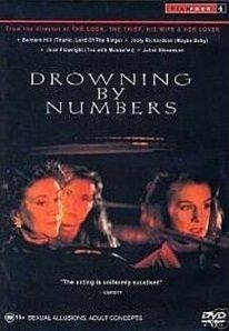 Drowning by Numbers (1988) Bernard Hill, Joan Plowright, Juliet Stevenson Director: Peter Greenaway IMDB: Tired of her husband's philanderous ways, the mother of two daughters drowns her husband. With the reluctant help of the local coroner, the murder is obscured. REMOVED FROM 2013 EDITION   ((NETFLIX, UNKNOWN AVAILABILITY DATE))  ((SUFFOLK COUNTY INTERLIBRARY LOAN))