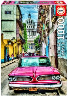 Puzzle Educa de 1000 piezas Coche Chevrolet en la Habana Cuba ( Ref:  0000016754 )