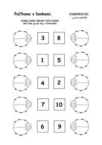 Lienka - počítame bodky