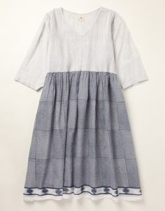 Uno Pintuck Dress (indigo)