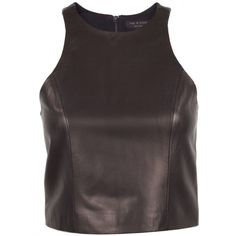 Yummy leather slightly cropped top....