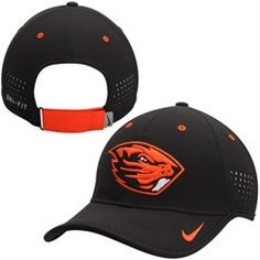 b4544015 Men's Nike Black Oregon State Beavers Sideline Coaches Performance Hat  Athletic Shop, Beaver Hat,