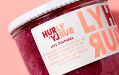 Hurly Burly / Design / Packaging / Jar / Label / Bold / Typography / Fermentation / Turbulent / Continuous / Logo / Close Up