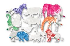 "R75501 Color Reveal: African Animals Ages 4+ Go on an art safari! Our beautifully realistic animal designs are printed on special high quality ""Color Reveal"" paper. We've printed the details of the animals in a super shiny white coating that resists paint. As you color the cut-out with watercolor paint or washable markers amazing animals appear! Learn about eachof the animals and then create classroom art displays. 12 beautiful animals up to 9 x 11"" (23 x 28 cm). Includes teacher guide…"