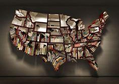 map bookshelf