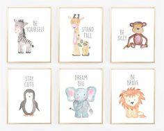 Watercolor Baby Animal Nursery Prints | Jane