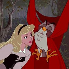 Sleeping Beauty; Aurora and the owl