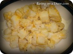 Easy Cheesy Skillet Potatoes - Eating on a Dime