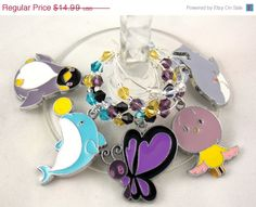 Free Iwatobi Swim Club inspired wine glass charms set of 5 by TheWarpZoneStore, $12.74