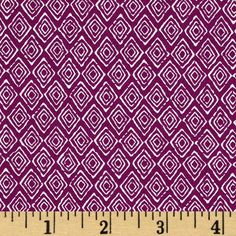 Primitiva Diamonds Purple/White from @fabricdotcom  Designed by Jane Dixon for Andover Fabrics, this cotton print includes colors of purple and white. Use for quilting, apparel, crafts and home decor accents.