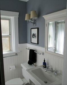 color case study shades of gray powder room design powder and grey - Kitchen Bathroom Design