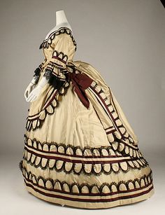Dress, silk, 1868, British.