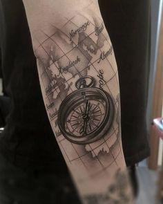 Freshly done, black and gray compass with map. Artist Janis Svars. #compass #compasstattoo #tattoo #blackandgray #blackngray #blackandwhite #realistic #realism #map #country #armtattoo #geography #riga #tattooinriga #sporta2 #tattooed #tattooist #tattooart #art #tattooink #ink #inked #skin #tattooartist #tattoofrequency #share #like #follow