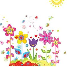 B-Comrade(TM) Flower Wall Stickers for Kids Rooms Home Sticker Nursery D¨¦cor: Amazon.co.uk: DIY & Tools