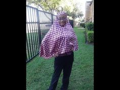 Muslimah sewing: How to make a tie back Khamir Part 2