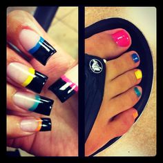 Funky Mani and Pedi
