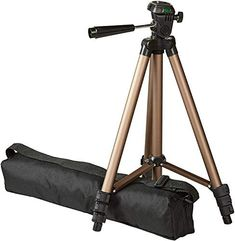 Adjustable-height tripod made of lightweight aluminum; weighs just over a pound head allows for tilt and swivel motion; portrait or landscape options Quick-release plate helps ensure fast transitions between shots Samsung Note 3, Phone Tripod, Camera Tripod, Gopro, Promo Amazon, Amazon Online, Still Camera, Mobile Holder, Camera Accessories