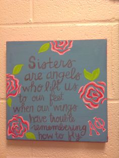Sisters truly are angels #alphaphi #diy #crafting