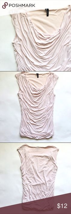 Ballerina Pink Draped Tank 🦄 Pretty in pink and oh so soft, this is a lovely take on a basic tank! The side ruching is extremely flattering. Great condition! Tops