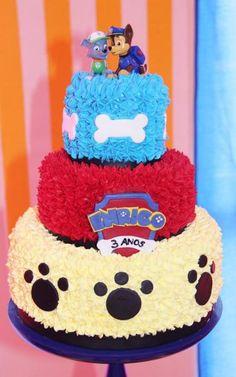 Bolo Do Paw Patrol, Paw Patrol Cake, Paw Patrol Party, 2 Year Old Birthday Party, 2nd Birthday Party Themes, Birthday Board, Pastel Paw Patrol, Bubble Cake, Paw Patrol Birthday Cake