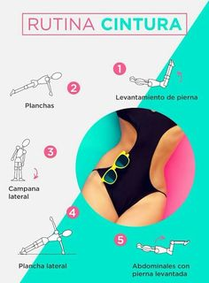 Rutina para tener cintura marcada y abdomen plano. Flat abs and slim waist. Rutina para tener cintura marcada y abdomen plano. Flat abs and slim waist. Gym Workouts, At Home Workouts, Motivation Yoga, Flat Abs, Excercise, Stay Fit, How To Stay Healthy, Health And Beauty, Health Fitness