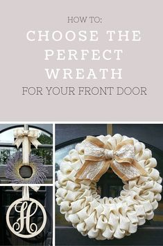Choosing the Perfect Wreath for Your Front Door - Tips on: Sizes, Colors, and Styles