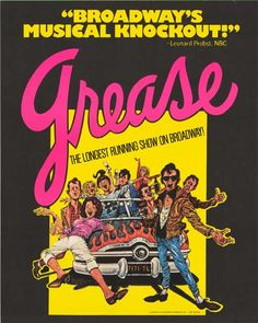 Broadway grease | Grease Broadway Poster    had front row seats for this show