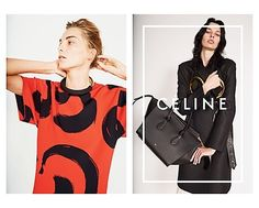 Daria Werbowy, Julia Nobis Pose for Celines Spring 2014 Ads
