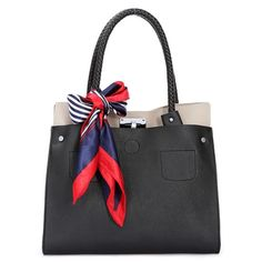 Simple temperament and elegant.  Etsuko - Womens fashion black tote #handbags