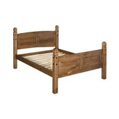 Corona Kingsize Wooden High End 4 Post Bed Frame Built to fit a mattress, the Corona high end wooden bedstead offers a luxurious feel to any traditional bedroom. This bold frame with high top and foot ends would be a stunning centre piece either Post Bed Frame, Bed Frames, Pine Beds, Pine Bedroom Furniture, King Size Bed Frame, Traditional Bedroom, Ebay, Solid Pine, Houses