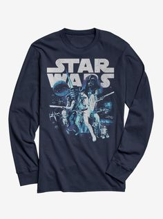 a48db887f Star Wars Keep It Vintage Long-Sleeve T-Shirt Graphic Tees, Graphic T