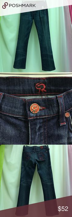Rock and Republic Denim Jeans Denim jeans with pattern on the back pockets Rock & Republic Jeans