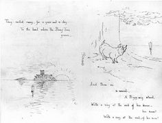 Illustrated manuscript of 'The Owl and the Pussy-cat', by Beatrix Potter, about 1897. Museum no. BP.619A. © Frederick Warne & Co.