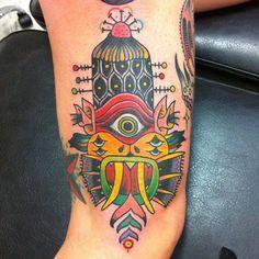Tattoo by Deno Jr, Circus Tattoo, Madrid