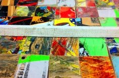New Skate Art Project using recycled skateboards and windows #skateart