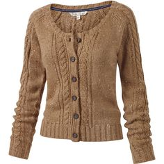 Kelsey Cable Cardigan ($72) ❤ liked on Polyvore