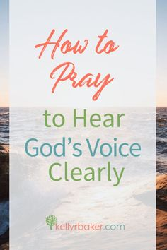 Have you ever been desperate to hear God's voice? You know, when it's like you have to hear from God—now! Here's how to pray. Prayer Times, Prayer Scriptures, Bible Prayers, Faith Prayer, Prayer Quotes, Bible Verses, Quotes Quotes, Dream Quotes, Bible Quotes