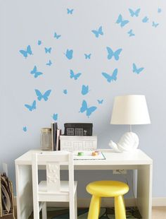 Butterflies Nursery Wall Sticker, Butterflie Decal Baby Room Decor Art, Butterflies  Wall Decals Australian Made Part 20