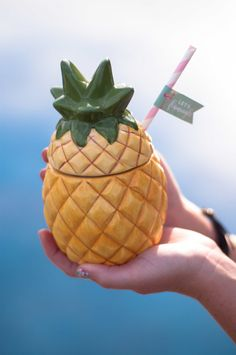 Adult Pineapple Party | Pineapple Straw Flags | styled and designed by Jessica Wilcox of Modern Moments Designs