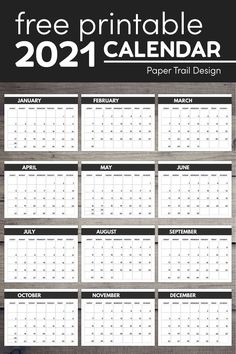 2021 free monthly calendar template pages to print including mini size, classic, and big happy planner sizes for a DIY planner. #papertraildesign #calendar #printablecalendar #2021 #2021calendar Free Printable Calendar Templates, Monthly Calendar Template, Printable Planner Pages, Printables, 2021 Calendar, Calendar Pages, Banner Letters, Mini Happy Planner, Paper Trail