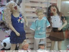 Protip: If You Want Your Store to Sell Clothes...Don't get mannequins that look like they've been possessed by Satan.