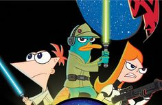 """O primeiro pôster do episódio especial de """"Star Wars"""" em """"Phineas e Ferb"""""""