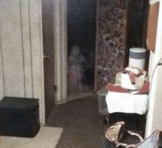The son of the family is sleeping and in the middle of the night he sees something in the doorway, he thinks its his sister playing a prank but its really a ghost he yells and then it goes away.