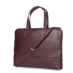Reeves Women's Slim Leather Brief Bag - Espresso   KNOMO