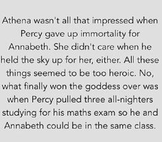 Wow. Percy  Awh that is cute