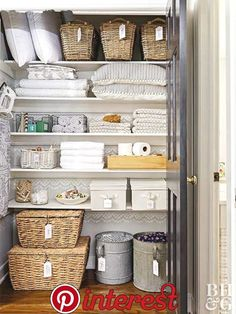 Bathroom closet organization dollar stores life 56 ideas for 2019 Bathroom Closet Organization, Closet Storage, Bathroom Storage, Smart Storage, Kitchen Storage, Creative Storage, Bathroom Towels, Bath Towel Storage, Small Closets