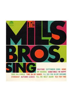 Referencia - Universo gráfico  the mills bros. sing